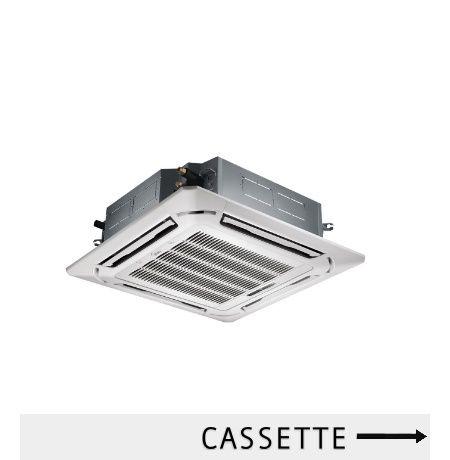 Air conditioner cassette Midea memberikan solusi pendinginan ruangan dengan letak yang tidak terlalu terlihat dan dapat menjangkau setiap sudut ruangan Anda.