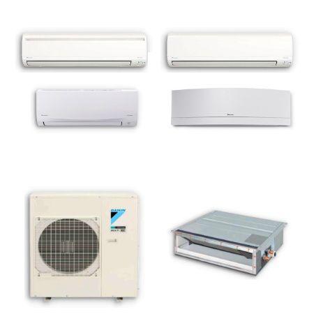 AC tipe multi-split Daikin hanya membutuhkan unit outdoor tunggal untuk menjaga kenyamanan optimal hingga lima kamar. Banyak keunggulan yang ditawarkan oleh sistem multi-split ditingkatkan dengan kontrol Inverter DC Daikin dan refrigeran R-32 Generasi berikutnya.