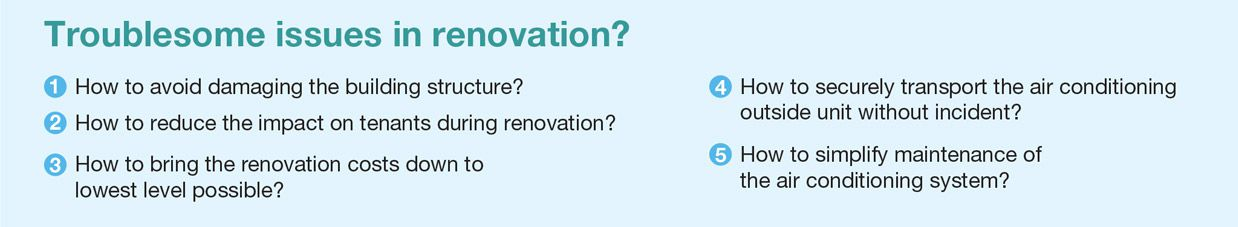 Troublesome issues in renovation?