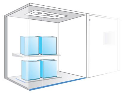 The outside units of the water cooled VRV IV W series don't have necessity to direct heat exchanging with outdoor air. This feature makes it possible to place the outside unit inside the building, which greatly extends design flexibility and makes it easier to adapt to different types of buildings and open to various kinds of creative building exteriors.